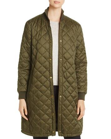 $Barbour Ebbertson Long Quilted Coat - 100% Exclusive - Bloomingdale's
