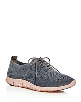 6a4686871d3 Cole Haan - Women s ZeroGrand Stitchlite Knit Lace-Up Oxford Sneakers ...