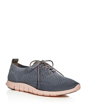 Cole Haan Zerogrand Stitchlite Knit Lace Up Oxford Sneakers 2575514