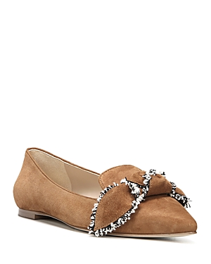 Sam Edelman Rochester Suede Pointed Toe Bow Flats