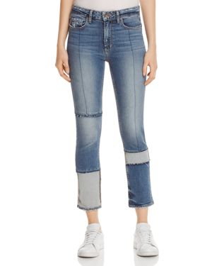 Paige Jacqueline Seamed Straight Crop Jeans in Saratoga - 100% Exclusive 2617219
