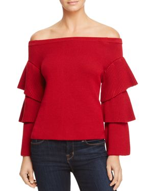 Endless Rose Tiered Sleeve Off-the-Shoulder Sweater - 100% Exclusive