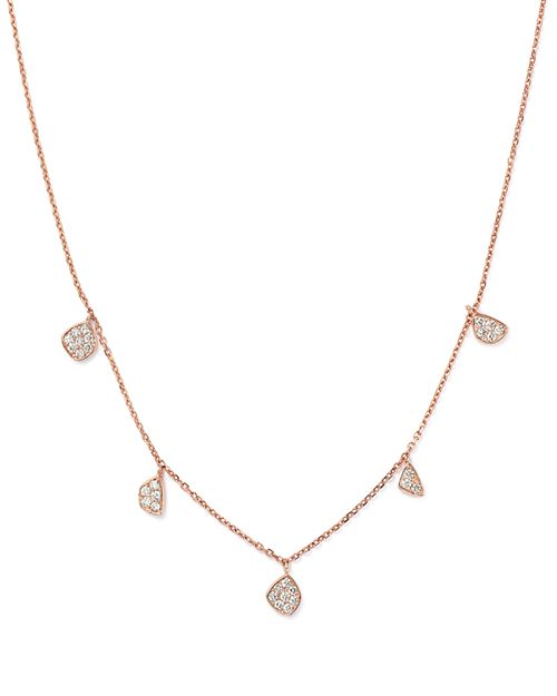 Bloomingdale's - Diamond Charm Necklace in 14K Rose Gold, .30 ct. t.w. - 100% Exclusive