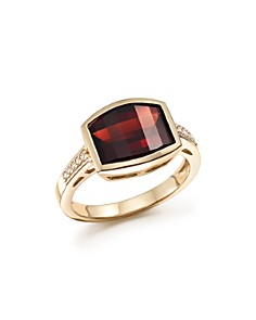 Bloomingdale's - Garnet and Diamond Statement Ring in 14K Yellow Gold - 100% Exclusive
