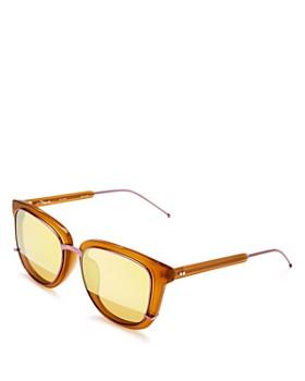 3.1 Phillip Lim - Women's Mirrored Square Sunglasses, 55mm