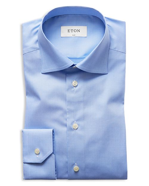 Eton - Micro Houndstooth Slim Fit Dress Shirt