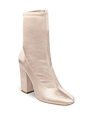 Kendall and Kylie Hailey Satin Block Heel Booties