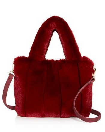 Street Level - Faux-Fur Tote