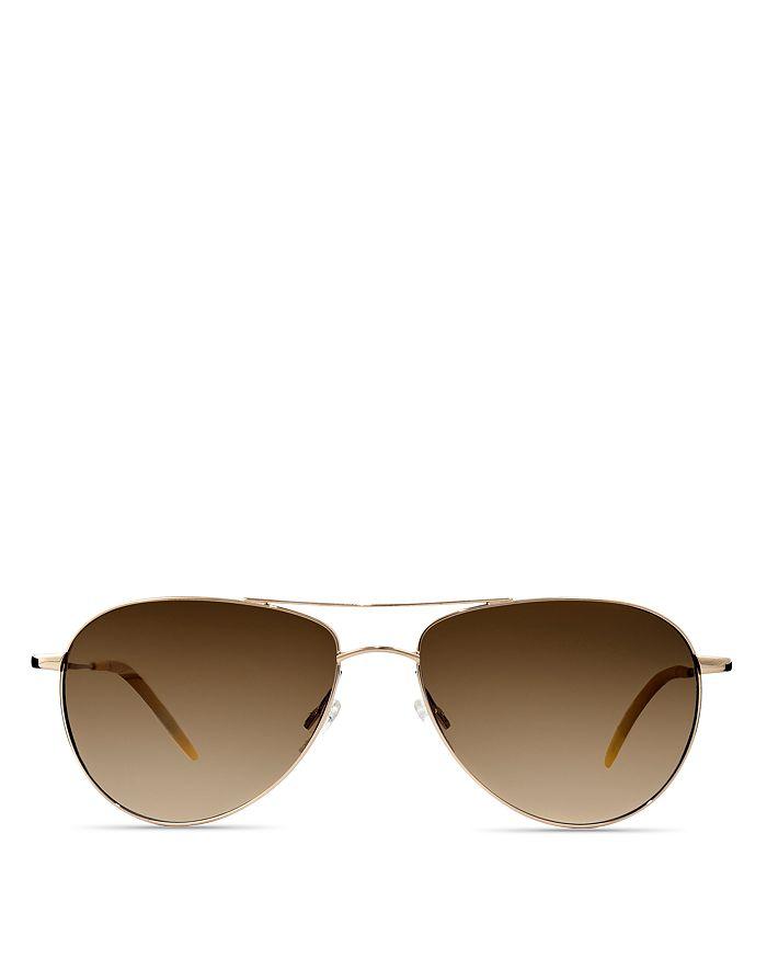 2b52deaca1c Oliver Peoples - Unisex Benedict Aviator Sunglasses