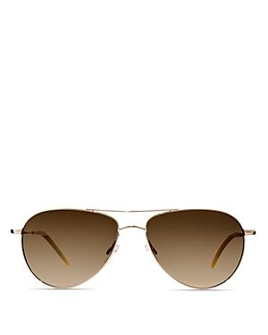 Oliver Peoples Benedict Aviator Sunglasses, 59mm
