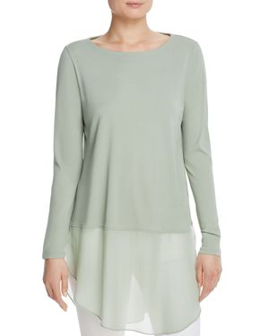 Eileen Fisher Silk Sheer Hem Tunic