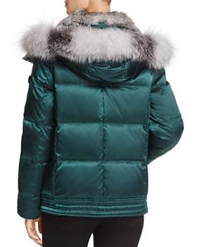 Andrew Marc - Lillie Rabbit & Fox Fur Trim Down Coat