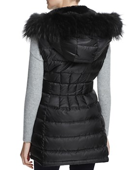 Dawn Levy - Brittany Traveler Fur Trim Down Vest - 100% Exclusive