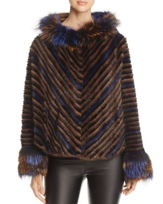 MINK FUR CHEVRON JACKET - 100% EXCLUSIVE