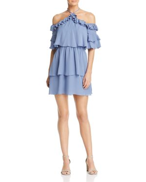 Parker Lorenzo Cold-Shoulder Silk Dress - 100% Exclusive
