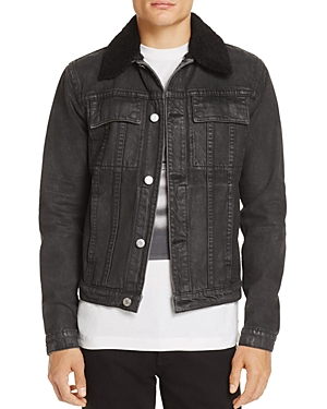 Helmut Lang Sherpa Collar Denim Jacket