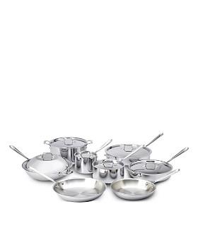 All-Clad - Stainless Steel 14-Piece Cookware Set