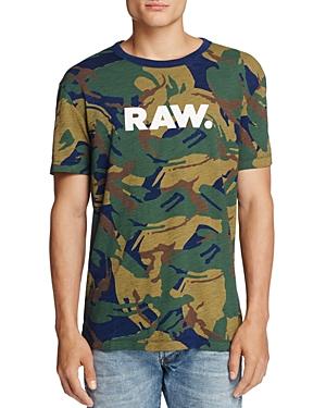 G-star Raw Camo Print Logo Tee