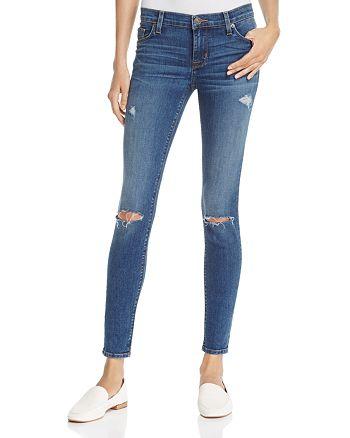 Hudson - Nico Distressed Skinny Jeans in Umbrage - 100% Exclusive