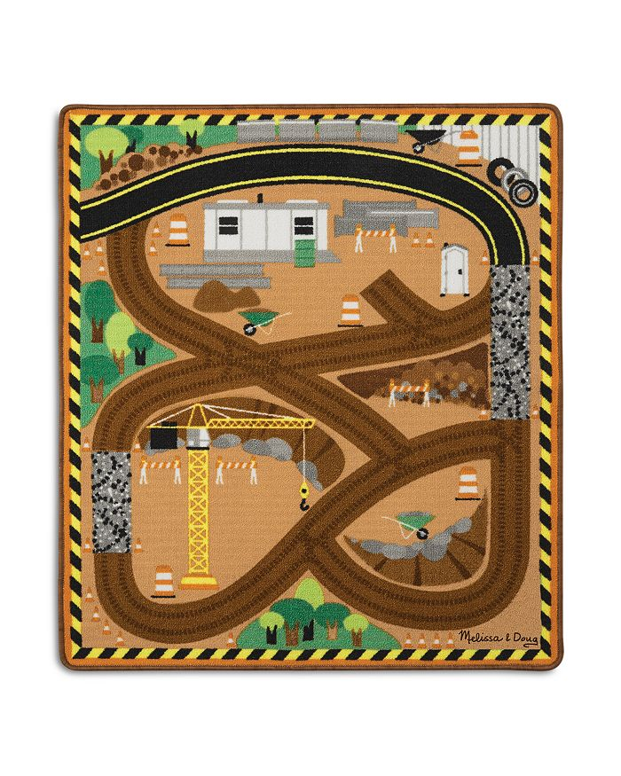 Melissa & Doug - Construction Truck Rug - Ages 3+