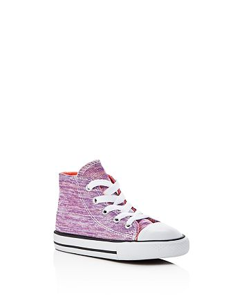 Converse - Girls' Chuck Taylor All Star Metallic Jersey High Top Sneakers - Baby, Walker, Toddler