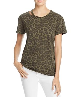 Pam & Gela Cutout Leopard-Print Tee