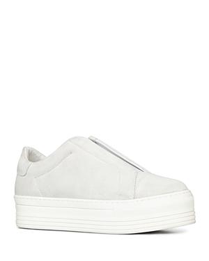 Allsaints Aya Suede Slip-On Platform Sneakers