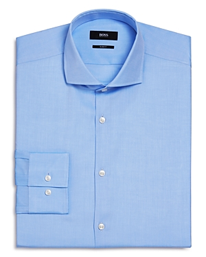 Boss Jason Textured Solid Slim Fit Dress Shirt