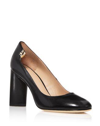 c424ac269 Tory Burch Elizabeth Leather High Block Heel Pumps | Bloomingdale's