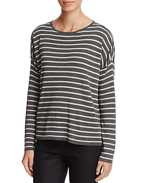 Eileen Fisher Petites Boxy Stripe Sweater