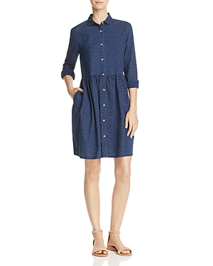 French Connection Indigo Cross Button-Up Dress