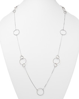 "Bloomingdale's - Sterling Silver Twisted Circles Station Necklace, 36"" - 100% Exclusive"