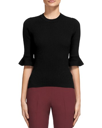 $Whistles Frill Cuff Sweater - Bloomingdale's