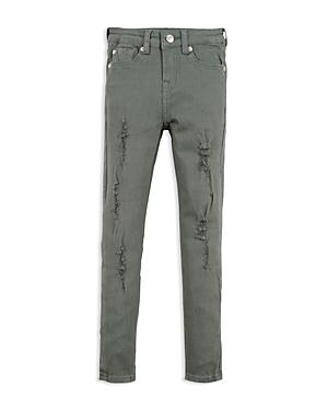 7 For All Mankind Girls Distressed Skinny Jeans  Big Kid