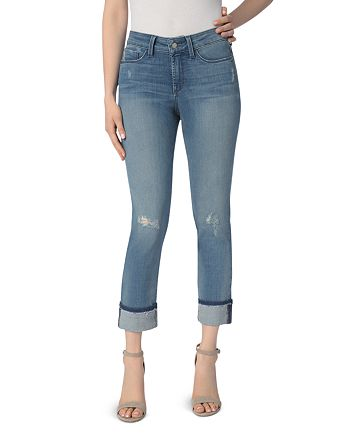 NYDJ - Marnie Wide Cuff Boyfriend Jeans in Paloma Rip