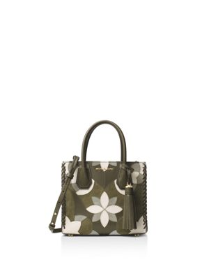 Michael Michael Kors Studio Mercer Floral Patchwork Medium Leather Messenger
