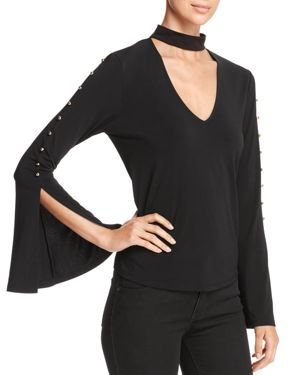 Marled Bell-Sleeve Top - 100% Exclusive