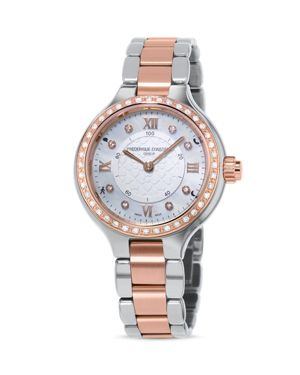 Frederique Constant Two Tone Horological Smartwatch with Diamonds, 34mm thumbnail