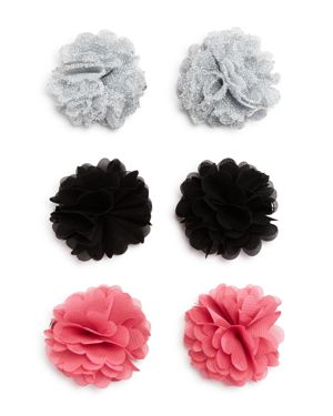 Capelli Girls' Flower Clips - Set of 6