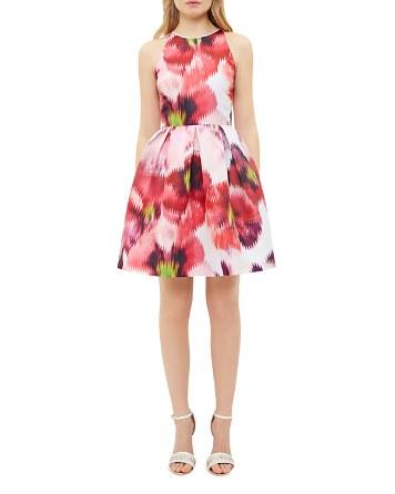 $Ted Baker Cesilia Expressive Pansy Skater Dress - Bloomingdale's