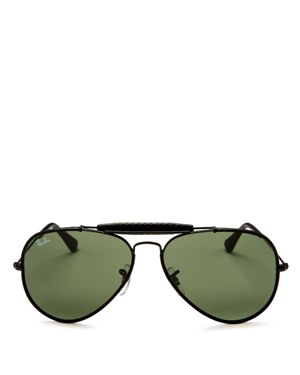 Ray-Ban Craft Brow Bar Aviator Sunglasses, 58mm 2653065