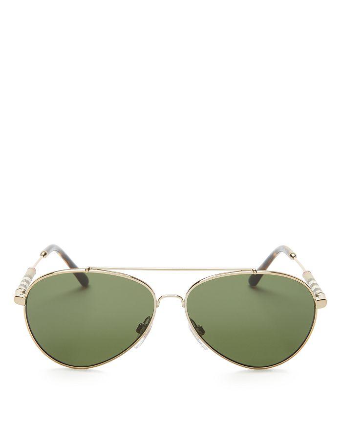 5f971fcc95b Burberry - Men s Polarized Brow Bar Aviator Sunglasses