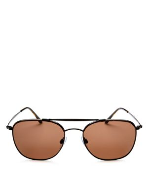 Giorgio Armani Brow Bar Square Aviator Sunglasses, 54mm