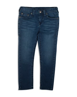 True Religion - Boys' Geno Slim Straight French Terry Jeans - Little Kid, Big Kid