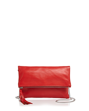 Aqua Foldover Leather Crossbody - 100% Exclusive