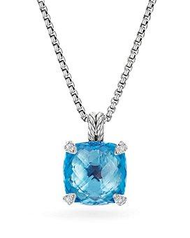 David Yurman - Sterling Silver Châtelaine Pendant Necklace with Gemstones & Diamonds, 14mm