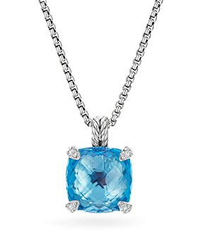 David Yurman - Sterling Silver Châtelaine Pendant Necklace with Gemstones & Diamonds, 14mm