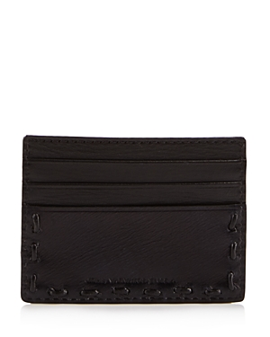John Varvatos Star Usa Leather Pick Stitch Fold Card Case