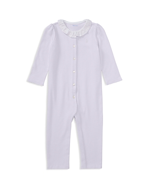 Ralph Lauren Childrenswear Girls Collared Coverall  Baby