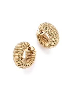 Roberto Coin - 18K Yellow Gold Chic and Shine Hoop Earrings - 100% Exclusive
